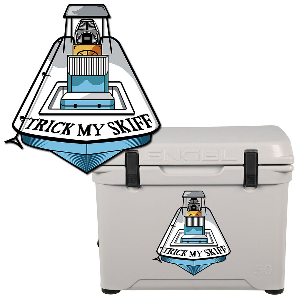 DEBUT of the BRAND NEW TMS-Trick My Skiff Decal/Stickers - Skiff Life - We Fish Skinny Water! - 1