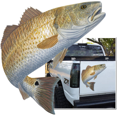 Redfish Decal Red Hot - Skiff Life