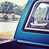 Skiff Life Jon Boat Car Truck Window Decal Stickers - Skiff Life - We Fish Skinny Water! - 2