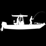 Skiff Life T-Top Flats Console Fishing Boat-Car Decal Stickers - Skiff Life - We Fish Skinny Water! - 4
