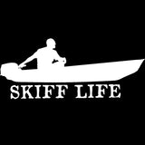 Skiff Life Jon Boat Car Truck Window Decal Stickers - Skiff Life - We Fish Skinny Water! - 6