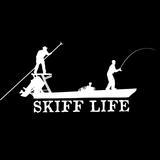 Skiff Life Poling Skiff Boat-Flats Fishing Decals Stickers - Skiff Life - We Fish Skinny Water! - 9
