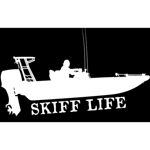 Flats in shore fishing decal stickers by skiff life decals stickers skiff life
