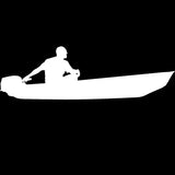 Skiff Life Jon Boat Car Truck Window Decal Stickers - Skiff Life - We Fish Skinny Water! - 7
