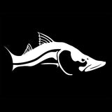 Skiff Life Snook Fish Car & Truck Decal Stickers in Black or White - Skiff Life - We Fish Skinny Water! - 2