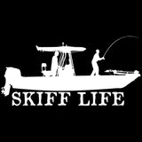 Skiff Life T-Top Flats Console Fishing Boat-Car Decal Stickers - Skiff Life - We Fish Skinny Water! - 3