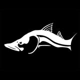 Skiff Life Snook Fish Car & Truck Decal Stickers in Black or White - Skiff Life - We Fish Skinny Water! - 6