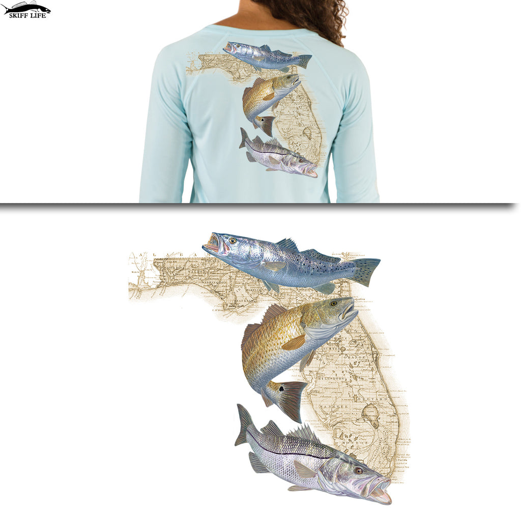 Womens Fishing Shirts Snook, Redfish, Trout - Skiff Life