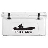 Skiff Life Jon Boat Car Truck Window Decal Stickers - Skiff Life - We Fish Skinny Water! - 4
