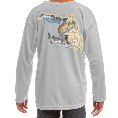 Youth/Kids Fishing Shirts Snook, Redfish & Trout - Skiff Life