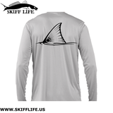 Kids Fishing Shirts Tailing Redfish & Ruler Sleeve - Shirts - Skiff Life