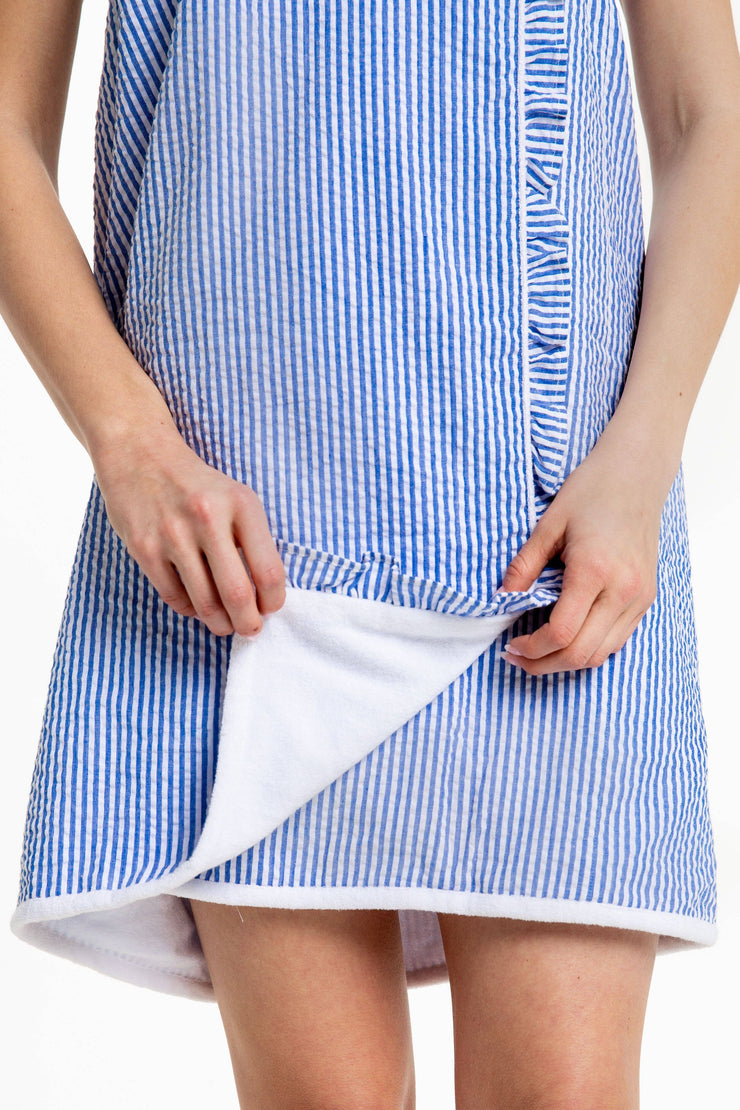 Seersucker Towel Wrap
