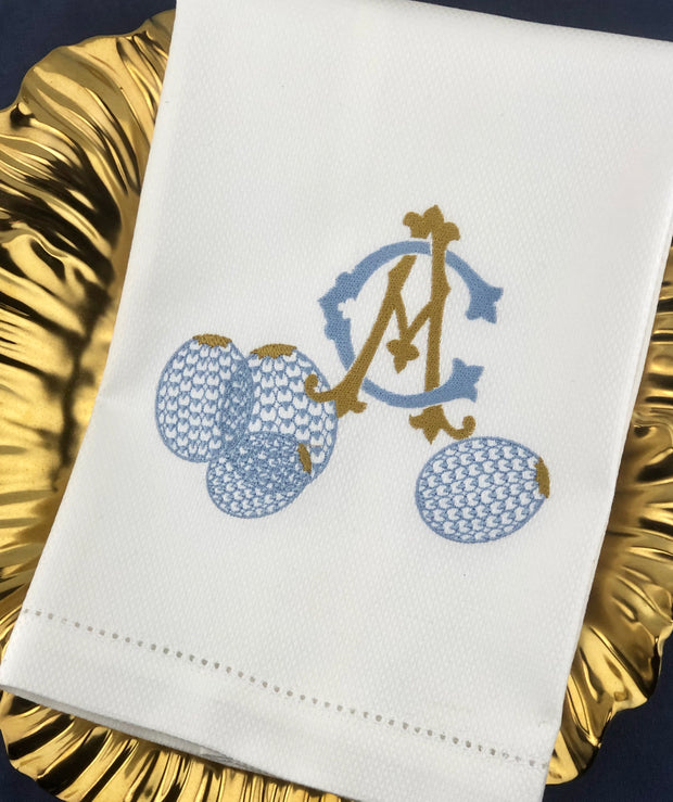Huck Towel with Monogram