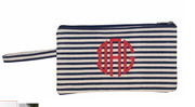 Striped Zipper Pouch