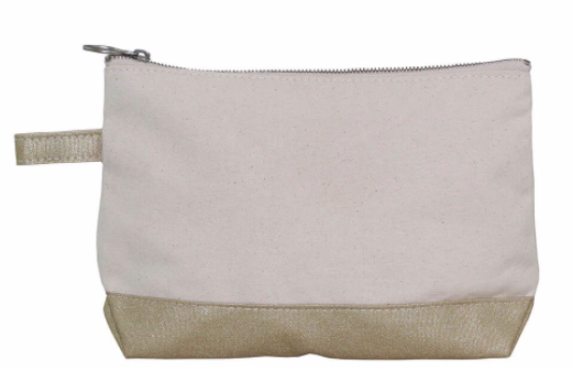 Canvas/Metallix Cosmetic Pouch