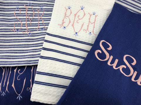 Dishtowels - blue&white