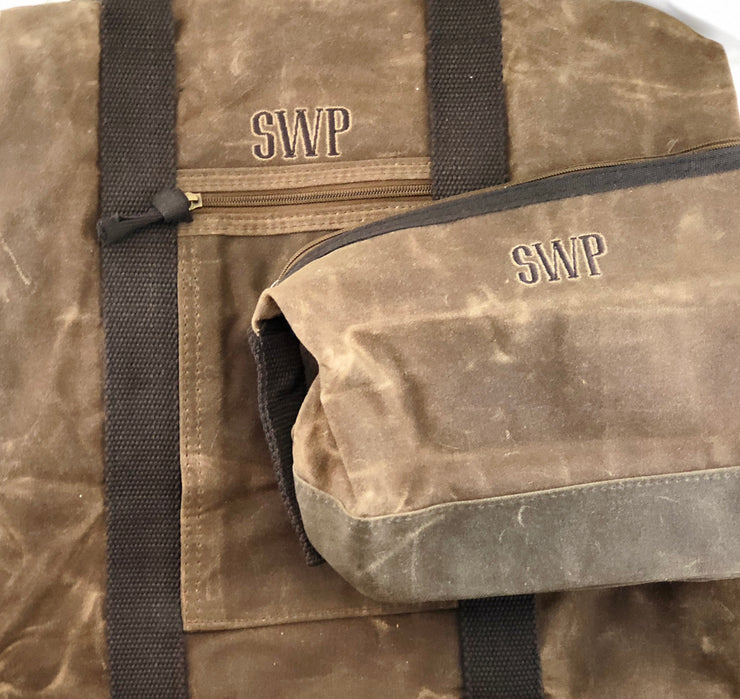 Waxed Canvas Travel pieces