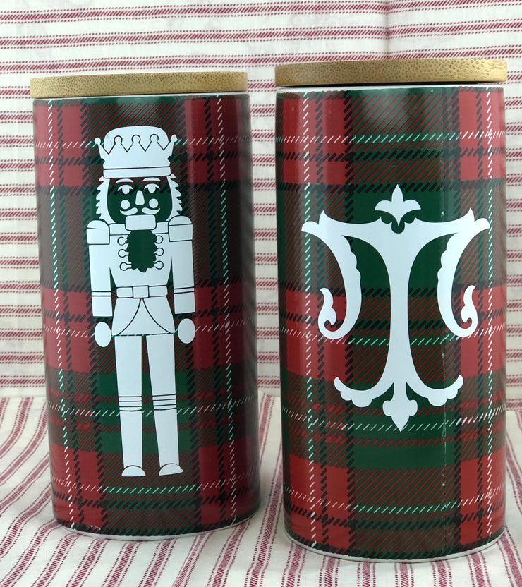 Plaid Candle Tin