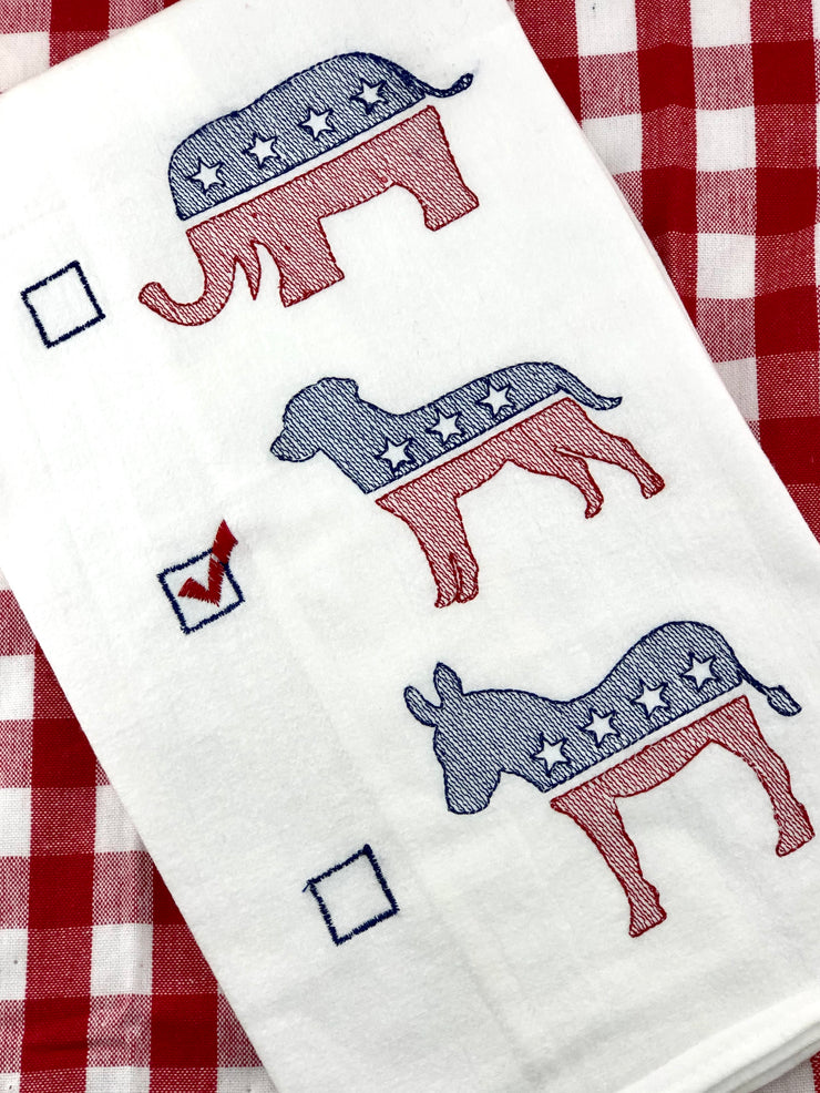 Political Party Dish Towel