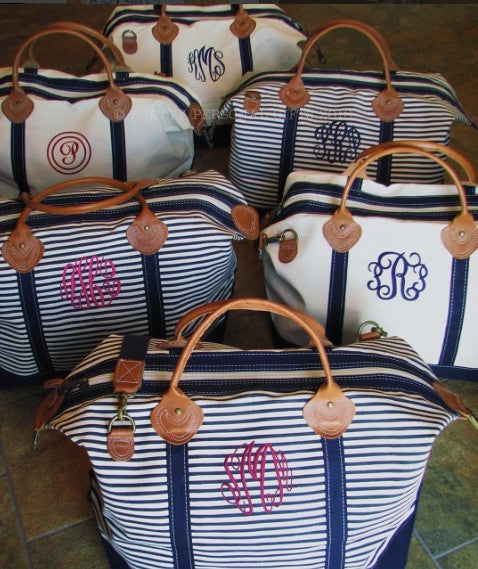Canvas Striped Weekender