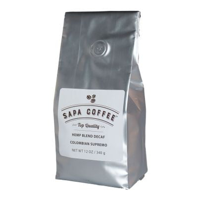 Sapa Coffee - Hemp Blend Decaf Colombian Supremo 12 oz
