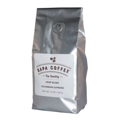 Sapa Coffee - Hemp Blend Colombian Supremo 12 oz