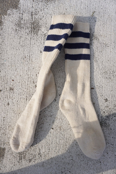 Jungmaven Hemp Socks, Navy Stripe