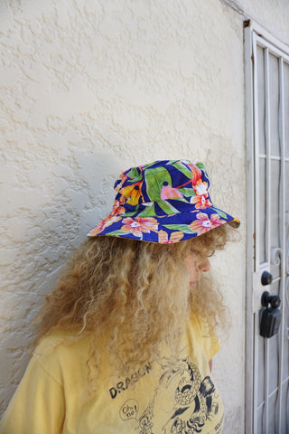 SALE Fisherman's Hat, Tropical Hibiscus, Sz. M