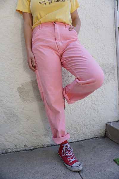 High Waisted Guava Painter's Pants, Sz. 32 x 31
