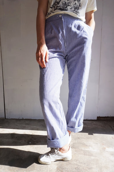 SALE High Waist Gingham Pants, 27 x 31