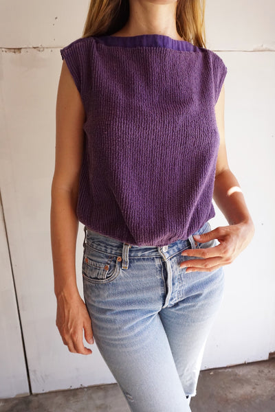 SALE Cotton Knit Top, Sz. M
