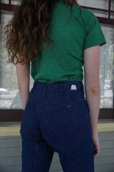 SALE 70s Bell Bottom Sailor Jeans w/ Flap Pockets, Multiple Sizes