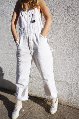 Painter's Overalls, White Cotton