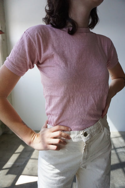 SALE Dusty Rose 1970s Tee, Sz. S