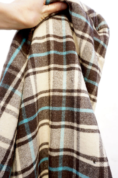 SALE Jacket Wool Plaid 40s-50s Sz. S