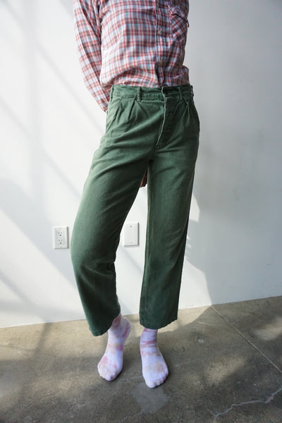 High Waisted Swedish Military Pants, Multiple Sizes