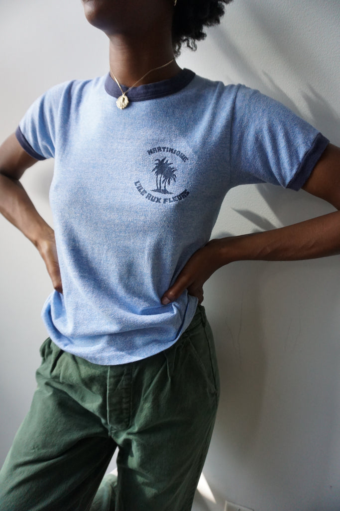 70s Martinique Ringer Tee, Sz. S