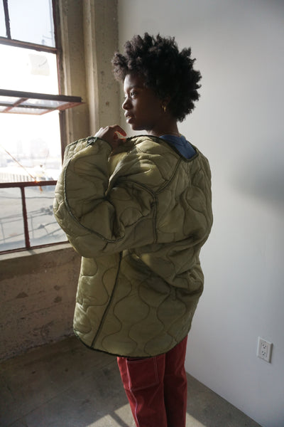 SALE Military Quilted Liner Jacket, Multiple Sizes