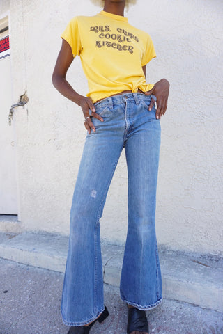 Rare 70s Levi's 684 Big Bell Jeans, Orange Tab, Sz. 27 x 31