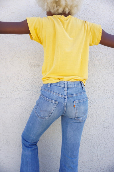 SALE Rare 70s Levi's 684 Big Bell Jeans, Orange Tab, Sz. 27 x 31