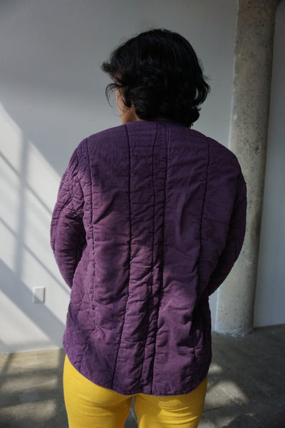 Eggplant Czech Quilted Cotton Jacket, Multiple Sizes