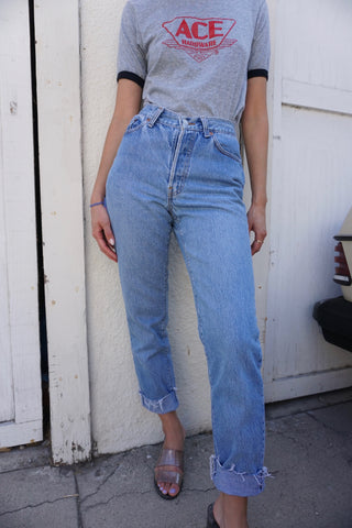 High Waisted Levi's 501 Jeans, Sz. 25 x 28.5