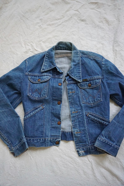 SALE 1970s Wrangler Selvedge Denim Jacket, Sz. S