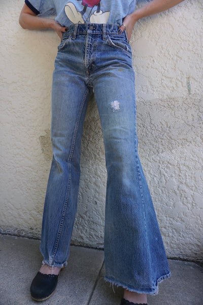 SALE Rare Levi's 684 Big Flare Jeans, Orange Tab, Sz. 27 x 31