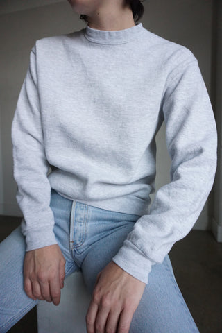 80s Light Heather Gray Sweatshirt, Sz. S