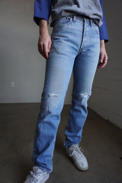 Levi's 501 Distressed Jeans, Sz. 25 x 30.5