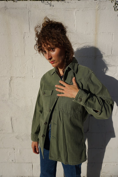 SALE 70s U.S. Army Jacket, Personalized Sz. S-M