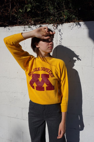 SALE Yellow Raglan Sleeve Sweatshirt, Sz. XS