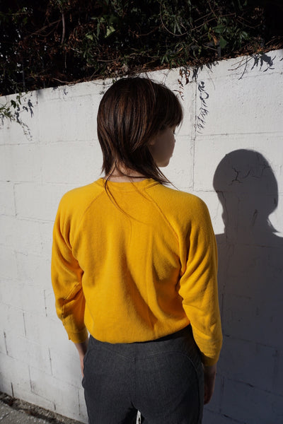 Yellow Raglan Sleeve Sweatshirt, Sz. XS