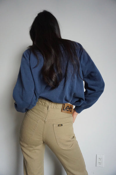 70s Lee Tan Bell Bottom Jeans, Sz. 25-26 x 29
